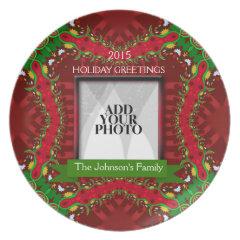 Christmas Holiday Family Keepsake Photo Plate