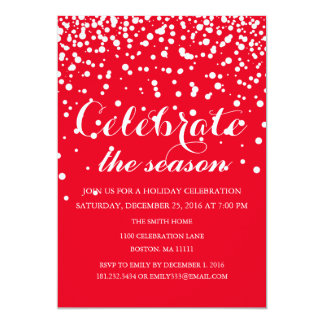 Christmas Holiday Family Party Card