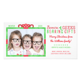 Christmas Holiday Family Photo | Funny Geeks Card