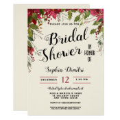 Christmas Holiday Floral Bridal Shower Invitation