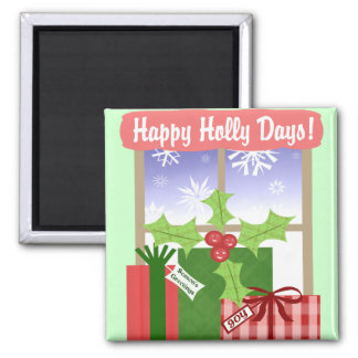 Christmas Holiday Fridge Magnet