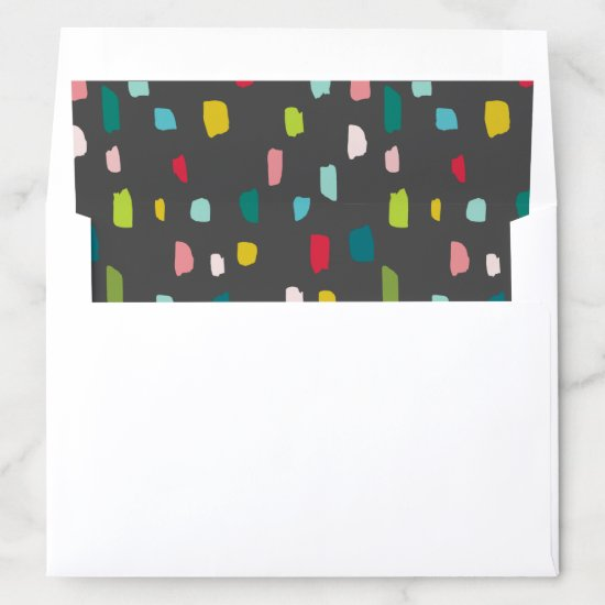 CHRISTMAS HOLIDAY fun bold bright colorful gray Envelope Liner