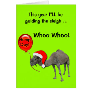 Christmas Holiday Funny  Camel Humpday Cards