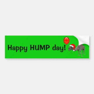 Christmas Holiday Funny  Camel Humpday Cards Bumper Sticker