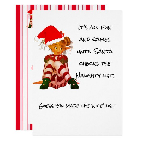 Christmas Holiday Funny Quote Elf Party Invitation