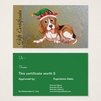 Christmas Holiday Gift Certificate for Dog Lovers