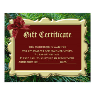 """Christmas Holiday Gift Certificate Printing 2-Side 4.5"""" X 5.6"""" Flyer"""