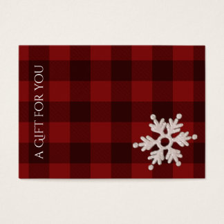 Christmas Holiday Gift Certificates | Winter Plaid