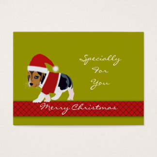 Christmas Holiday Gift Tag (Dog) - Personalize
