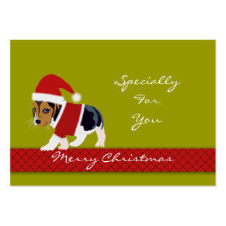 Christmas Holiday Gift Tag (Dog) - Personalize Large Business Cards (Pack Of 100)