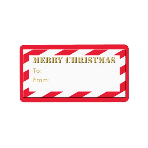 Christmas Holiday Gift Tag Merry Christmas Address Label