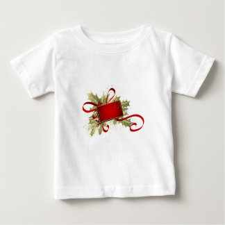 Christmas Holiday Gift Tag with Holly Baby T-Shirt