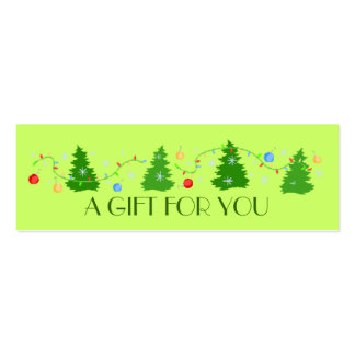 Christmas | Holiday Gift Tags Double-Sided Mini Business Cards (Pack Of 20)