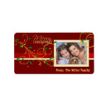 Christmas Holiday Gift Tags Labels with Photo Custom Address Label
