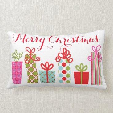 Christmas Themed Christmas Holiday Gifts Lumbar Pillow