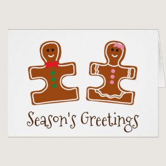 Christmas Holiday Ginger Puzzle Autism Awareness Card