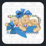 """Christmas Holiday Gingerbread cartoon sticker<br><div class=""""desc"""">design by originalartwork@delightful-doodles.com</div>"""