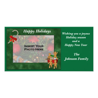 Christmas Holiday Gingerbread Cookie Men Photo Card