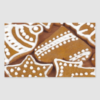 Christmas Holiday Gingerbread Cookies Rectangular Sticker