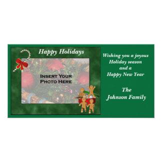 Christmas Holiday Gingerbread Men Photo Card