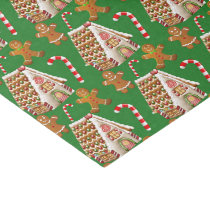 Christmas Holiday gingerbread pattern Tissue Paper
