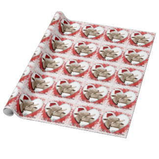 Christmas Holiday Goats in Love Wrapping Paper