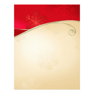 Christmas Holiday Gold Red Stationary Letterhead