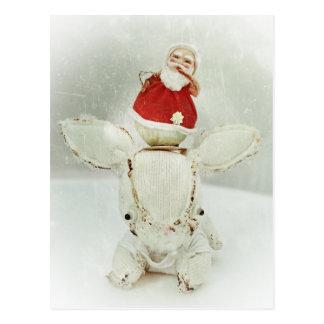 Christmas Holiday Greeting Card - Santa and Aldo Postcard