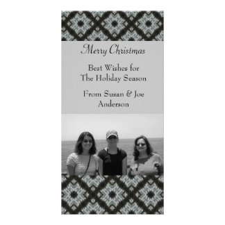Christmas Holiday Grey pattern Card