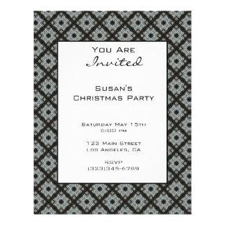 "Christmas Holiday Grey pattern 8.5"" X 11"" Flyer"