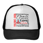 Christmas Holiday Heart Disease Collage Trucker Hat