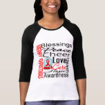 Christmas Holiday Heart Disease Collage T Shirts