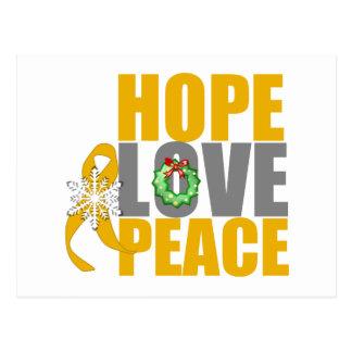 Christmas Holiday Hope Love Peace Appendix Cancer Postcard