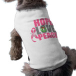 Christmas Holiday Hope Love Peace Breast Cancer Pet Shirt