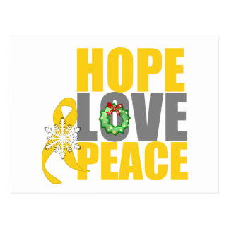 Christmas Holiday Hope Love Peace Childhood Cancer Post Cards