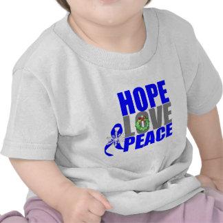 Christmas Holiday Hope Love Peace Colon Cancer Tshirt