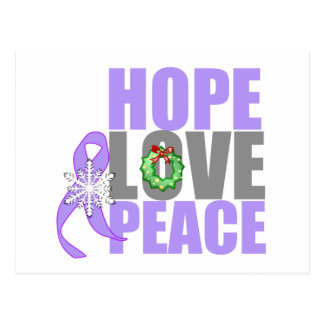 Christmas Holiday Hope Love Peace General Cancer Postcard