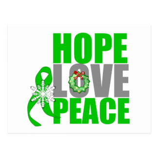 Christmas Holiday Hope Love Peace Kidney Cancer Postcard