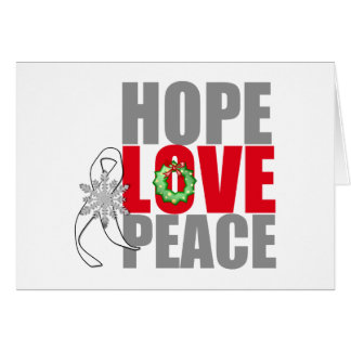 Christmas Holiday Hope Love Peace Lung Cancer Card