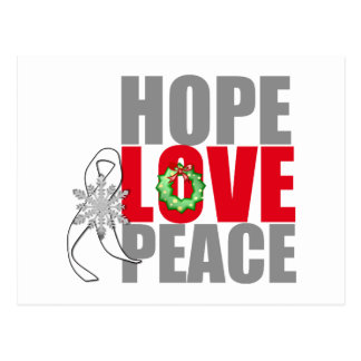 Christmas Holiday Hope Love Peace Lung Cancer Postcard