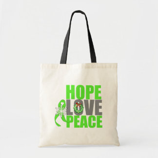 Christmas Holiday Hope Love Peace Lymphoma Bags