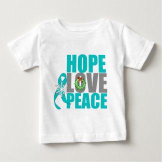 Christmas Holiday Hope Love Peace Ovarian Cancer Infant T-shirt