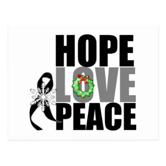 Christmas Holiday Hope Love Peace Skin Cancer Postcard