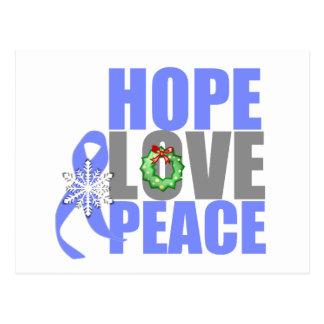 Christmas Holiday Hope Love Peace Stomach Cancer Postcard