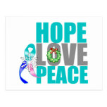 Christmas Holiday Hope Love Peace Thyroid Cancer Post Cards