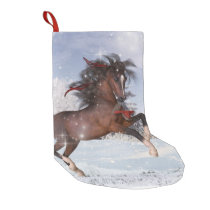 Christmas Holiday Horse Stocking