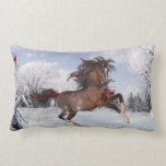 Christmas Holiday Horse Throw Pillow