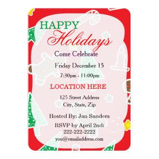 "Christmas Holiday Invitation 4.5"" X 6.25"" Invitation Card"