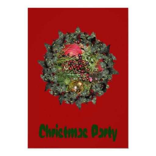 Christmas Holiday Invitation Wreath Ornaments