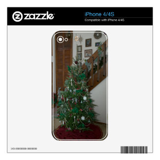 Christmas Holiday iPhone 4 4S Skin Decal For iPhone 4S